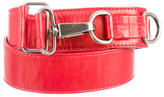 Dries Van Noten Leather Buckle Waist Belt