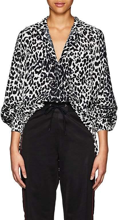 Givenchy Women's Leopard-Pattern Silk Tunic