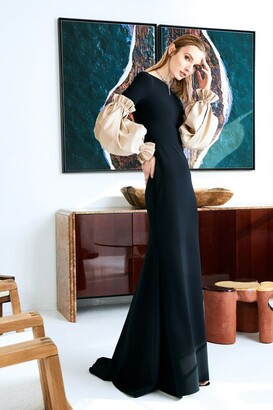 Christian Siriano Sculpted Sleeve Gown