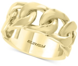Effy Men's Chain Link Ring in 14k Gold-Plated Sterling Silver