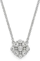 Judith Ripka Sterling Silver La Petite Snowflake Beaded Pendant Necklace with White Sapphire, 17""