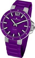 Jacques Lemans Milano 1-1707K 30mm Stainless Steel Case Silicone Mineral Women's Watch