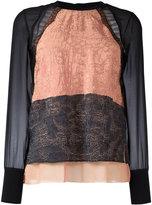 3.1 Phillip Lim layered detail jumper - women - Silk/Nylon/Polyamide/Viscose - 2