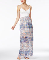 Trixxi Juniors' Bow-Back Maxi Dress