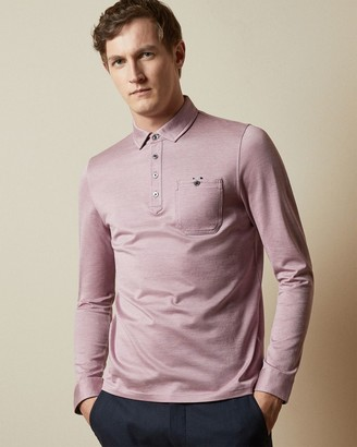 Ted Baker Cotton Long Sleeved Oxford Polo Shirt