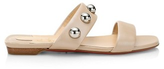Christian Louboutin Simple Bille Bauble Leather Slides