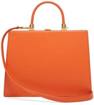Rodo Frame Top-handle Leather Bag - Womens - Orange