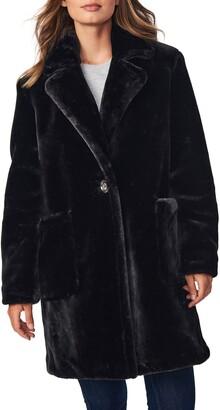 Bernardo Smooth Faux Fur Long Coat