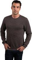 JENNIE LIU Men's 100% Pure Cashmere Long Sleeve Pullover Crewneck Sweater (M, )