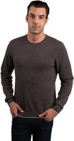 JENNIE LIU Men's 100% Pure Cashmere Long Sleeve Pullover Crewneck Sweater (XXL, )
