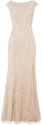 Adrianna Papell Sequin Cap Sleeve Gown