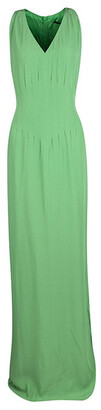 Boss By Hugo Boss Green V-Neck Dallisia Sleeveless Maxi Dress M