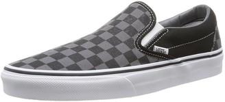Vans Unisex Adults' Classic Slip On Black ((Checkerboard) black / pewter) 4 UK