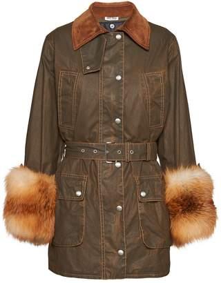 Miu Miu waxed jacket