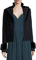 Derek Lam Whipstitched Mink Fur-Detail Jacket