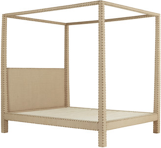 OKA Zamindar Four Poster Bed, King With Mattress - Natural