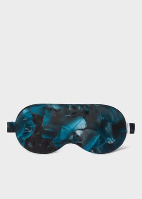Paul Smith Blue 'Floral Photo' Print Silk Eye Mask