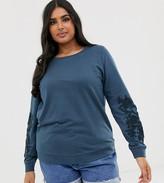 Junarose sleeve detail sweatshirt