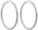 Bottega Veneta Intrecciato oxodised sterling-silver hoop earrings