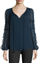 Elie Tahari Marielle Silk Blouse, Night