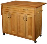 Catskill Craft Drop Leaf Kitchen Island