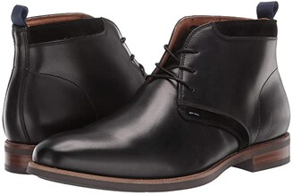 Florsheim Uptown Plain Toe Chukka Boot (Black Leather/Suede) Men's Boots