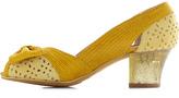 Miss L Fire Glitter Bow Peep Heel