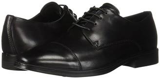 Ecco Melbourne Cap Toe Tie (Black) Men's Lace Up Cap Toe Shoes