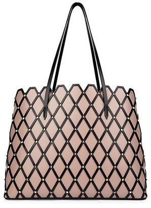 Valentino Beehive Studded Leather Tote