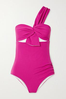 Marysia Swim Venice One-shoulder Cutout Swimsuit - Pink