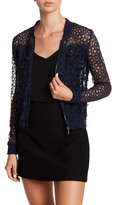 T Tahari Fatima Floral Applique Lace Jacket
