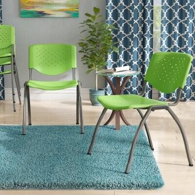 Ebern Designs Chrisha Armless Stackable Chair Seat Finish Green Shopstyle