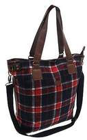 Soul Cal SoulCal Womens Ladies Tartan Tote Bag Shopper Shoulder Travel Luggage Accessory