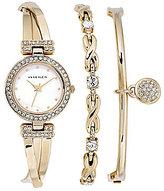 Anne Klein Ladies 3 Piece Crystal Watch Set