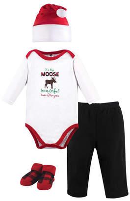 Hudson Baby Baby Boy Holiday Clothing 4 Piece Gift Set