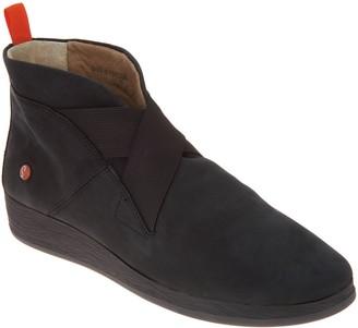 Fly London Nubuck Leather Slip-on Shoes - Adi