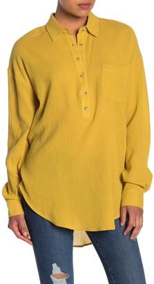 MelloDay Dolman Sleeve High/Low Tunic Shirt