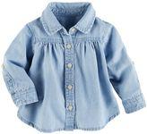 Osh Kosh Baby Girl Shirred Chambray Shirt