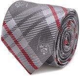 Cufflinks Star Wars Darth Vader Grey and Red Plaid Men's Tie