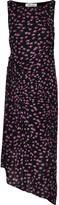 Diane von Furstenberg Maia Asymmetric Pleated Floral-print Mesh Dress