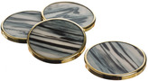 Just Slate Horn-Effect Coasters Set of 4