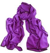 Black Bleeker Purple and Scarf - Cashmere and Silk