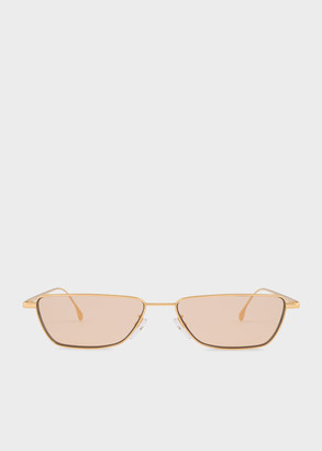 Paul Smith Gold 'Askew' Sunglasses