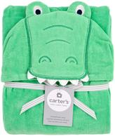 Carter's Alligator Puppet Towel - Blue