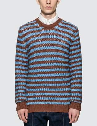 Prada Alpaca Striped Sweater