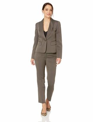 Le Suit LeSuit Women's Petite 1 Button Shawl Collar Novelty Pant Suit