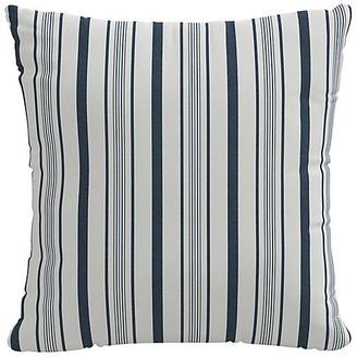 One Kings Lane Finn Stripe Pillow - Navy/White