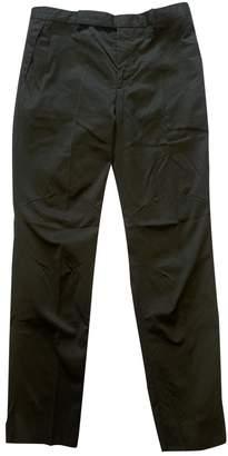 Balenciaga Khaki Cotton Trousers