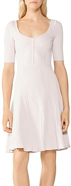 Herve Leger Ribbed Fit and Flare Dress