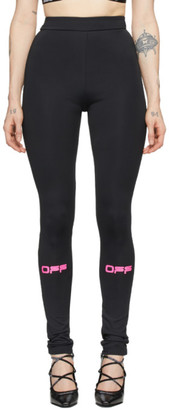 Off-White Black and Pink Off Active Leggings